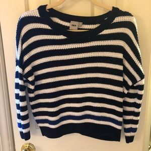 Cropped ASOS striped sweater